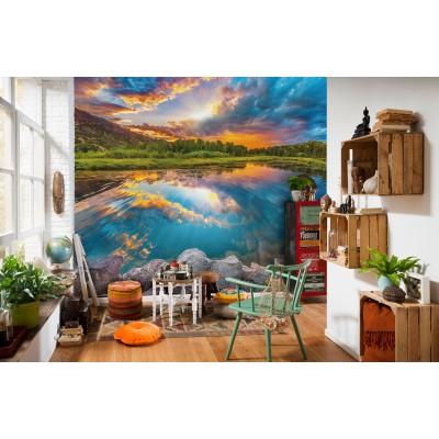 Φωτοταπετσαρία τοίχου Πρωινό με θέα τη Λίμνη 368x248cm