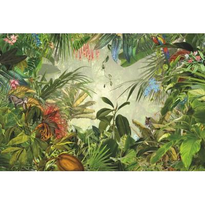 Φωτοταπετσαρία τοίχου Τρόπικαλ Komar XXL4-031 Non woven Vlies Άγρια ζούγκλα 368x248cm