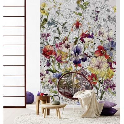"""Φωτοταπετσαρία τοίχου Φλοράλ Komar 4-201 """"Flora""""  184Χ254"""