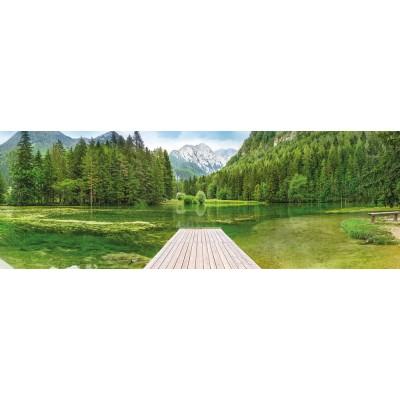 """Φωτοταπετσαρία τοίχου Καταπράσινη λίμνη Komar 4-538  """"Green Lake""""  368x127cm"""