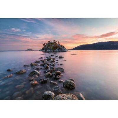 Φωτοταπετσαρία τοίχου Νησί μέσα στην Λίμνη 368x254cm