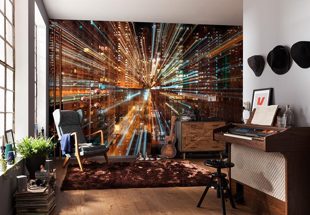 """Φωτοταπετσαρία τοίχου Komar XXL4-037 Φουτουριστικό μοτίβο Non woven Vlies """"Fusion"""" 368x248cm"""