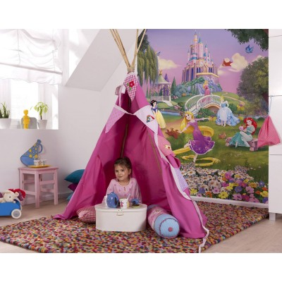 Φωτοταπετσαρία τοίχου παιδική Komar 4-4026 Princess Sunset DISNEY 184x254cm
