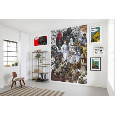 Φωτοταπετσαρία τοίχου παιδική Komar 4-4111 Classic Cartoon  Collage  STAR WARS 184x254cm