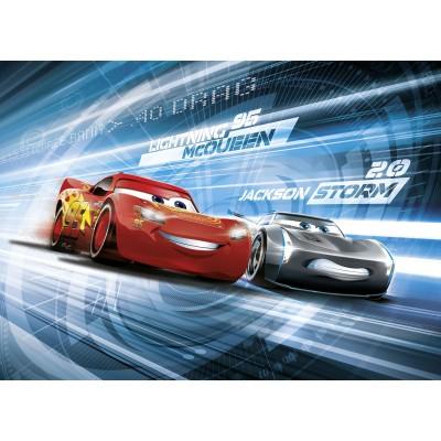 Φωτοταπετσαρία τοίχου παιδική McQueen DISNEY Cars 3 Simulation 254x184cm