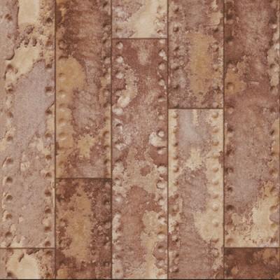 Ταπετσαρία τοίχου Rasch Απομίμηση Μεταλλικές Πλάκες (με σκουριά)  10,05x0,53