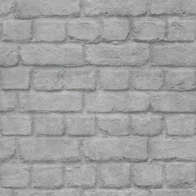 Ταπετσαρία τοίχου Rasch Απομίμηση Τούβλο ασημί-γκρι  10,05x0,53