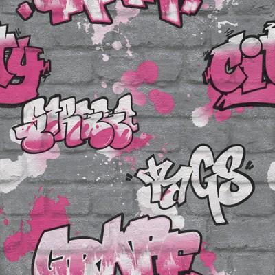 Ταπετσαρία τοίχου Rasch Γκράφιτι ( graffiti )10,05x0,53
