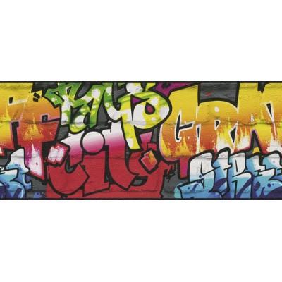 Μπορντούρα τοίχου Rasch Γκράφιτι ( graffiti ) 5,00x0,24