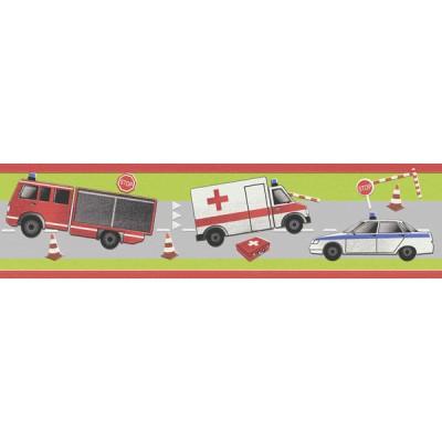 Μπορντούρα τοίχου Rasch Πολύχρωμη με Οχήματα 5,00x0,24