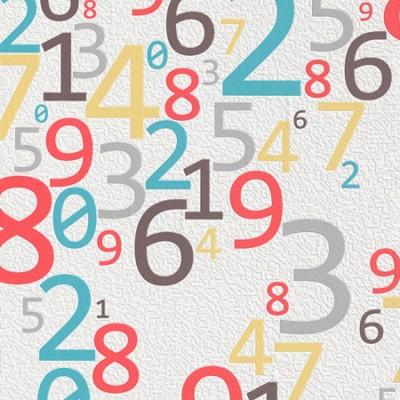 Ταπετσαρία τοίχου Rasch  Αριθμοί  10,05x0,53