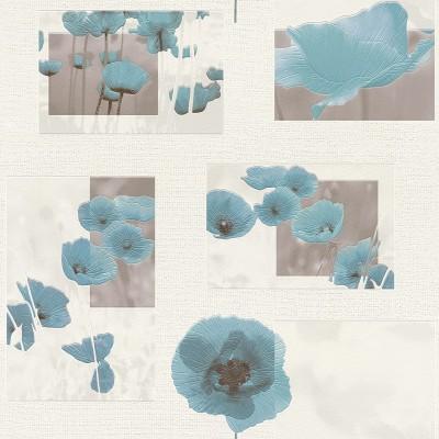 Ταπετσαρία τοίχου Rasch Aqua Relief IV 853315 Παπαρούνες 10,05x0,53