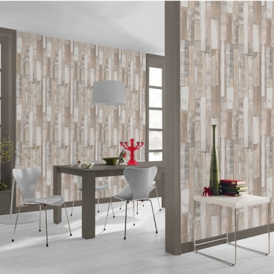 Ταπετσαρία τοίχου Rasch Απομίμηση Ξύλου (ασβεστωμενα ξύλα)  10,05x0,53