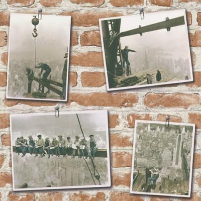 Ταπετσαρία τοίχου Rasch Απομίμηση κόκκινο τούβλο ( photos posted )10,05x0,53