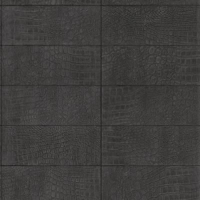 Ταπετσαρία τοίχου Rasch  Ανθρακί - Μαύρο  Απομίμηση Μοτίβο Κροκόδειλου  10,05x0,53
