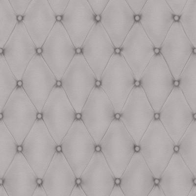 Ταπετσαρία τοίχου Rasch  Ασημί  Απομίμηση Δέρμα ( British Chesterfield sofa )   10,05x0,53