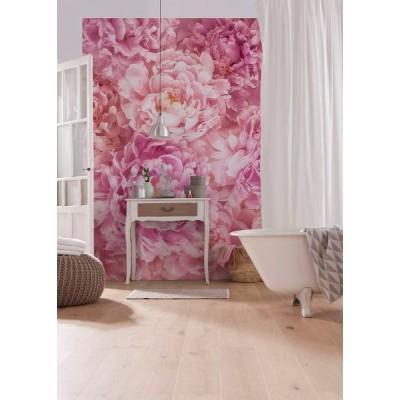 Φωτοταπετσαρία τοίχου Ρόζ Λουλούδια (flowers) 184x248cm