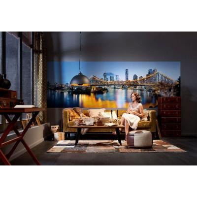 Φωτοταπετσαρία τοίχου Φωτισμένη Γέφυρα 368x124cm