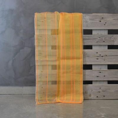 Έτοιμη κουρτίνα ραμμένη με τρέσα 10003/19  Πορτοκαλί