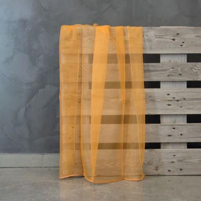 Έτοιμη κουρτίνα ραμμένη με τρέσα T9 Numansia/Ochre Πορτοκαλί/Ώχρα