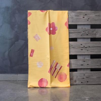 Έτοιμη κουρτίνα ραμμένη με τρέσα 140x280  8072/03 Κόκκινο/Κίτρινο