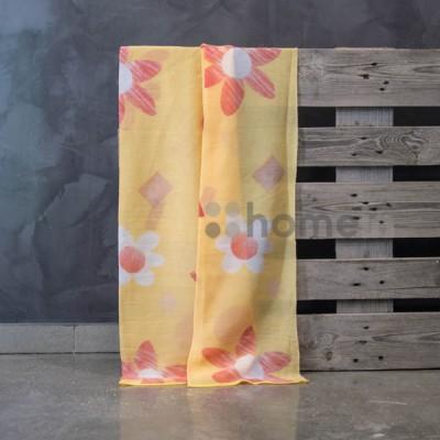 Έτοιμη κουρτίνα ραμμένη με τρέσα 140x300 8072/voile 03 Κόκκινο/Κίτρινο