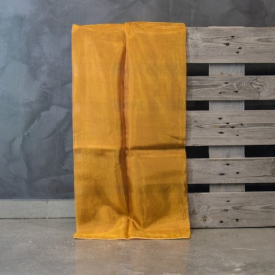 Έτοιμη κουρτίνα ραμμένη με τρέσα 231/08  Ώχρα/Πορτοκαλί