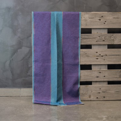 Έτοιμη κουρτίνα ραμμένη με τρέσα 20364/15 Μοβ/Μπλε 140X280