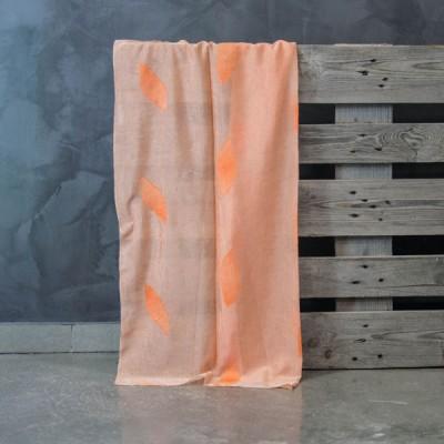 Έτοιμη κουρτίνα ραμμένη με τρέσα 140x300 573/Q Σομόν/Πορτοκαλί