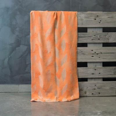 Έτοιμη κουρτίνα ραμμένη με τρέσα 547/Q Σομόν/Πορτοκαλί 140x300
