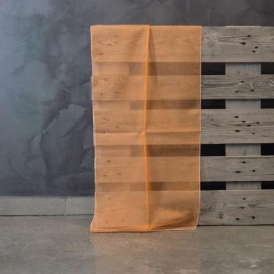 Έτοιμη κουρτίνα ραμμένη με τρέσα Carmina 201317/07 Πορτοκαλί