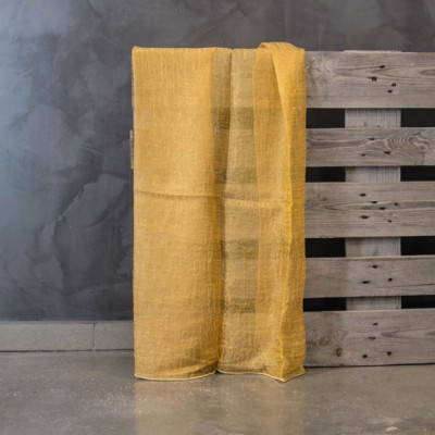 Έτοιμη κουρτίνα ραμμένη με τρέσα Carmina 101050/15 Πορτοκαλί