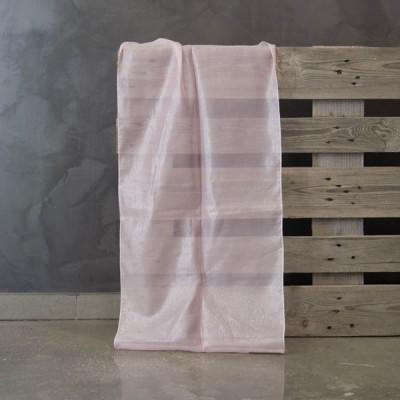 Έτοιμη κουρτίνα ραμμένη με τρέσα 140x300  21679/8 Ροζ/Metallic 140Χ300