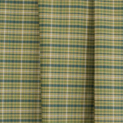 Κουρτίνα με το μέτρο RR022/1201 Καρό Κίτρινο/Πράσινο