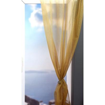 Κουρτίνα με το μέτρο 1043/V-9 E1 Χρυσαφί/Κίτρινο