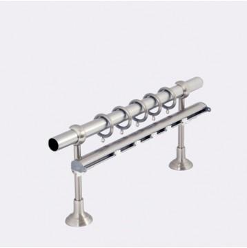 Μεταλλικό πτυσσόμενο κουρτινόξυλο Φ25 No 9 νίκελ/ νίκελ ματ 140-250cm
