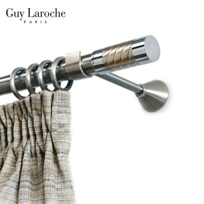 Inox κουρτινόξυλο Brooklin Φ25 160cm by Guy Laroche