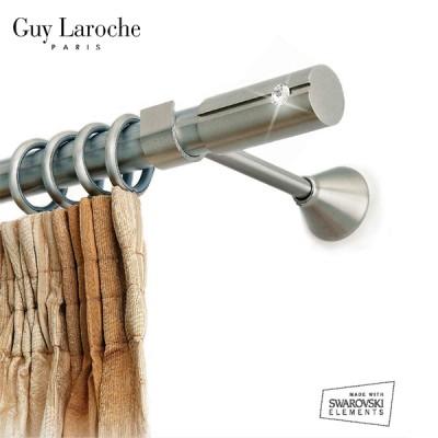 Inox κουρτινόξυλο Bianco Φ25 160cm με Swarovski Strass by Guy Laroche