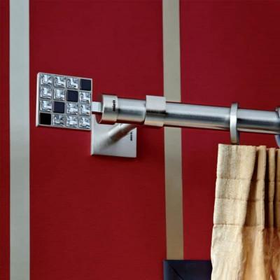 Inox κουρτινόξυλο Puzzle Φ25 160cm με Swarovski by Aslanis