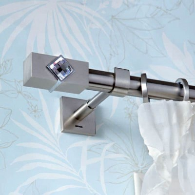 Inox κουρτινόξυλο Caldera Crystal Φ25 160cm με Swarovski by Aslanis