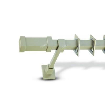 Μεταλλικό Παστέλ Κουρτινόξυλο Domus Τ20 Sivota από 160cm σε 6 διαστάσεις