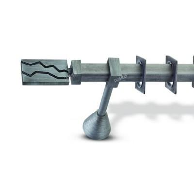 Μεταλλικό Βιομηχανικό Κουρτινόξυλο Domus Φ25 Danai από 160cm σε 6 διαστάσεις