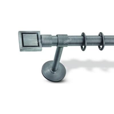 Μεταλλικό Βιομηχανικό Κουρτινόξυλο Domus Φ25 Kerkini από 160cm σε 6 διαστάσεις