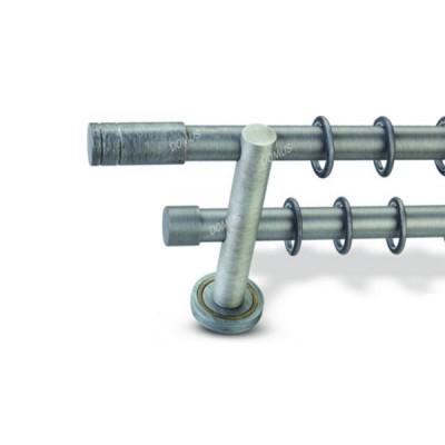 Μεταλλικό Βιομηχανικό Κουρτινόξυλο Domus Φ25 Διπλό Tapa Riga από 160cm σε 6 διαστάσεις