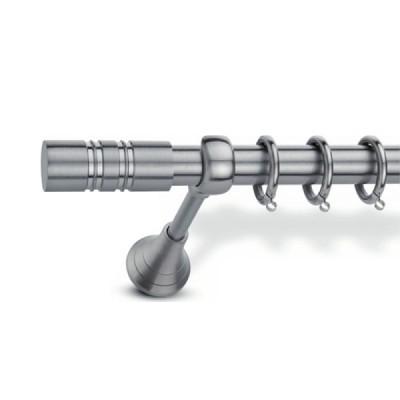 Μεταλλικό Κουρτινόξυλο Domus Φ25 Inox Ismini από 120cm σε 7 διαστάσεις