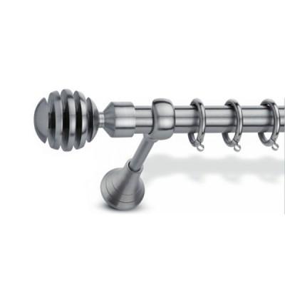 Μεταλλικό Κουρτινόξυλο Domus Φ25 Inox Pindos από 120cm σε 7 διαστάσεις
