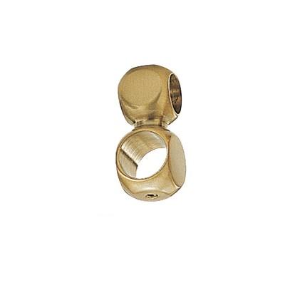 Εξάρτημα διπλού σωλήνα Φ25 χρυσό ματ