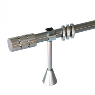 Μεταλλικό κουρτινόξυλο Φ25 Νο 8 strass 160cm OEM