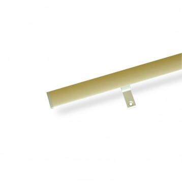 Κουρτινόξυλο αλουμινίου με σιδηρόδρομο ART 6300 χρυσό ματ