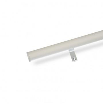 Κουρτινόξυλο αλουμινίου με σιδηρόδρομο ART 6300 νίκελ ματ